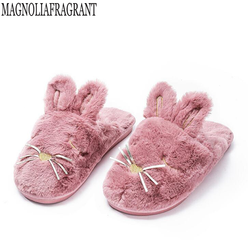 Women Winter Home Slippers Cartoon Cat Shoes rabbit Non-slip Soft Winter Warm House Slippers Indoor Floor Shoes pantoufle femme Women Winter Home Slippers Cartoon Cat Shoes rabbit Non-slip Soft Winter Warm House Slippers Indoor Floor Shoes pantoufle femme