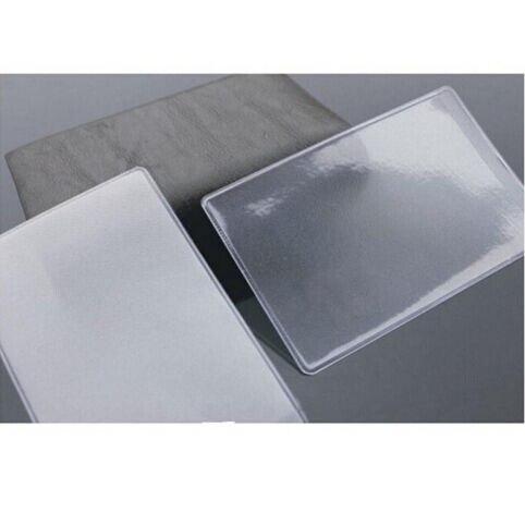 10 Stücke 9,6x6 Cm Staubdicht Klare Kartenhalter Weichem Kunststoff Kreditkarte Protektoren Bussiness Karte Id Halter