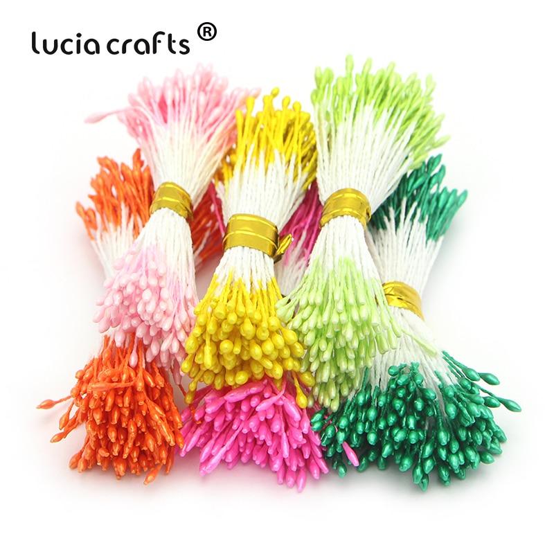 520 шт. многоцветный двойные советы 1 мм жемчужный цветок тычинки ручной работы для свадьбы праздничный торт DIY интимные аксессуары 11010108 (520)