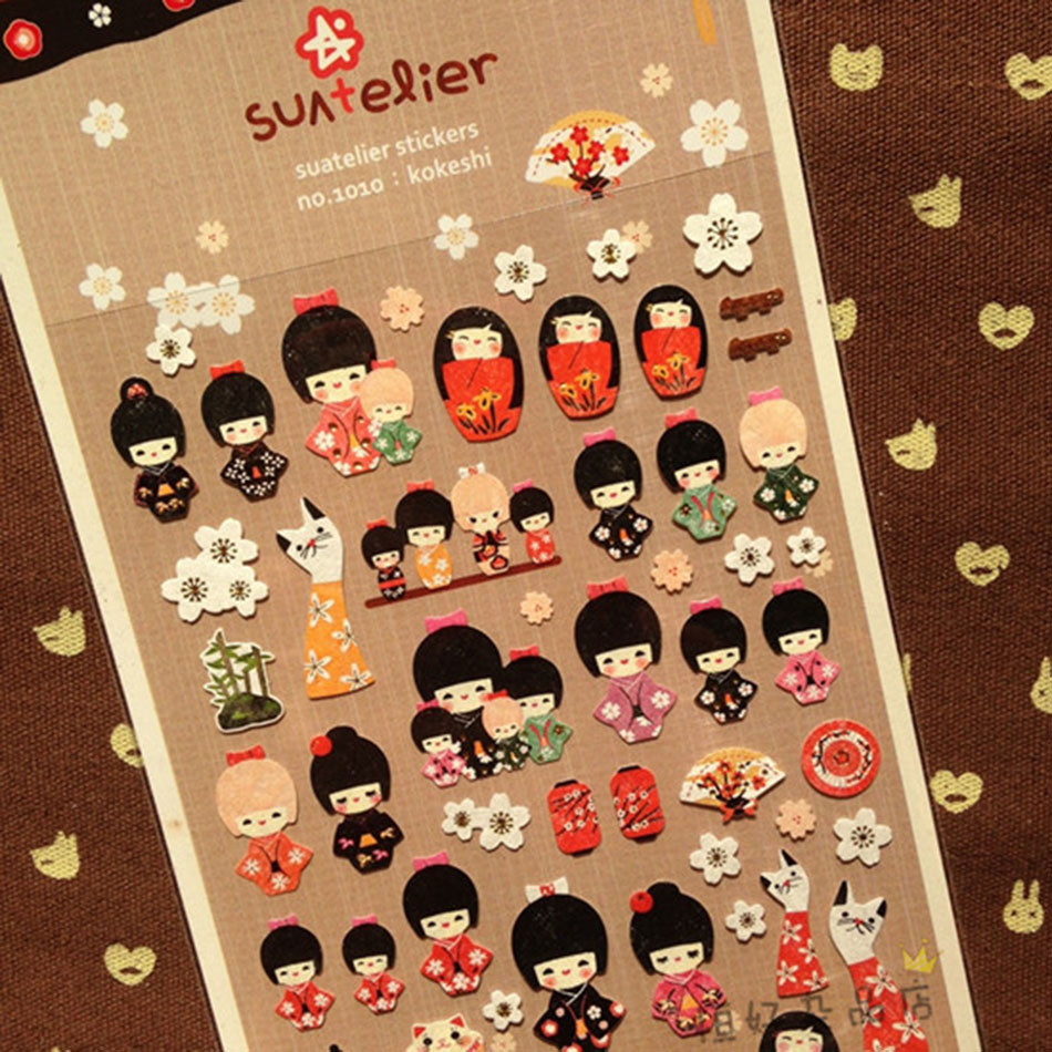 Cute Japanese girls diary stickers decorative stickers Creative Package Gift sticke