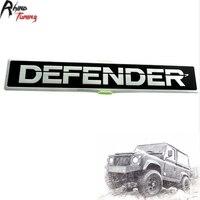 High Quality Aluminum DEFENDER Car Front Tailgate Emblem Sticker Auto Body Side Panel Badge Sticker 635