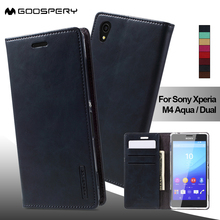 Mercury Goospery чехол для Sony Xperia M 4 aqua Dual Blue Moon бумажник PU кожаная сумка кожаный чехол для Sony Xperia M4 aqua чехол