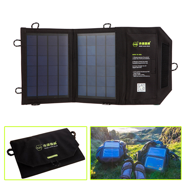 5e596cd58e14 US $42.75 5% OFF|Outdoor Portable Solar Bags high Efficiency Folding  Waterproof Solar Panel Charger Camping Solar PowerBank,Can buckle  backpack-in ...