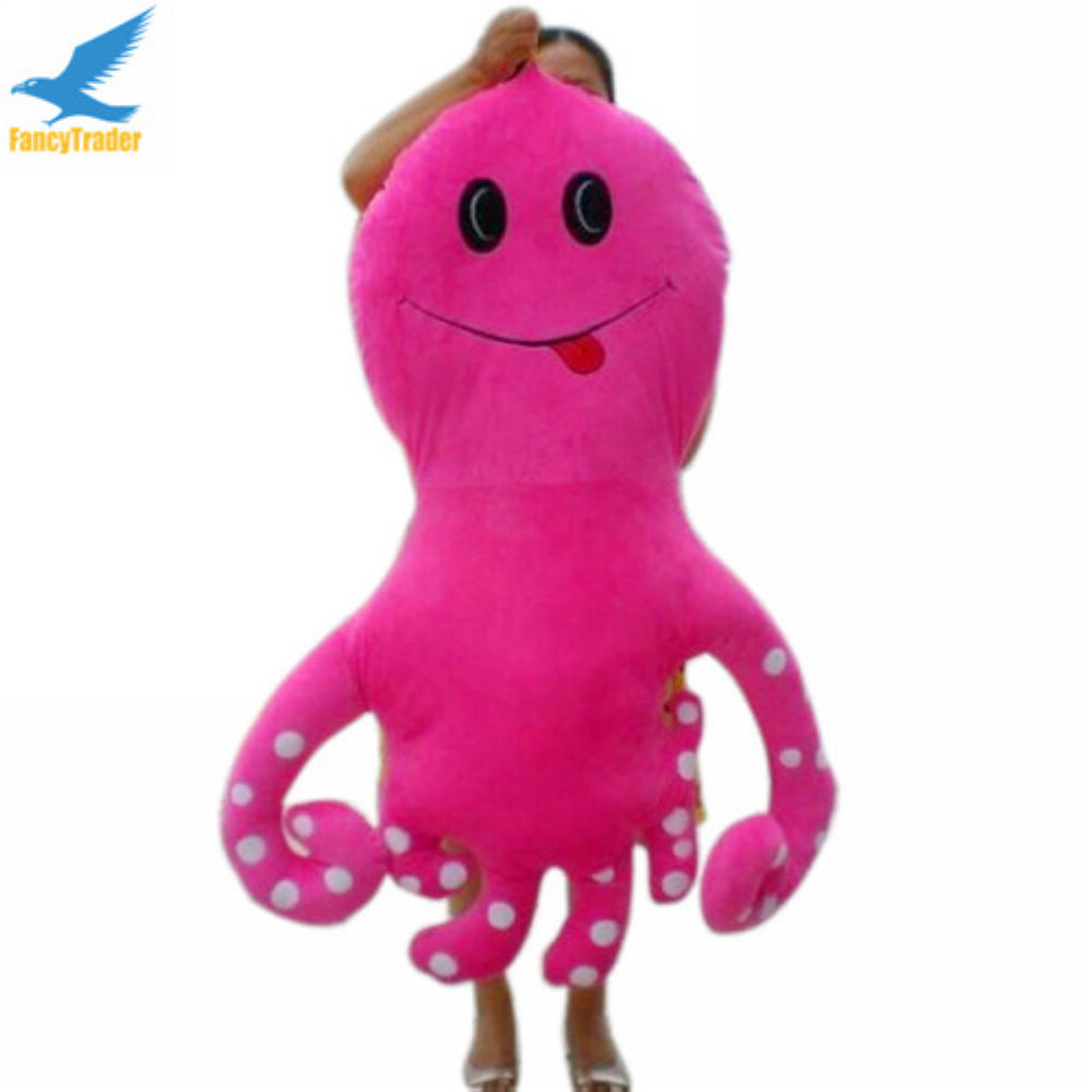Fancytrader Novelty Toy! Birthday Gift! 53'' / 135 cm Giant Plush Stuffed Octopus 4 Colors Free Shipping by EMS FT90095 fancytrader 2015 new 31 80cm giant stuffed plush lavender purple hippo toy nice gift for kids free shipping ft50367