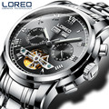 LOREO Luxury Watches Men Automatic self-wind Fashion Casual Male Sports Watch Mechanical Wristwatches Relogio masculino J90