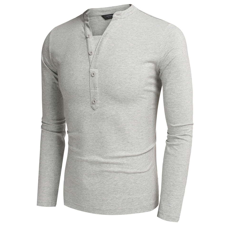 Mens Slim Fit Long Sleeve T Shirts