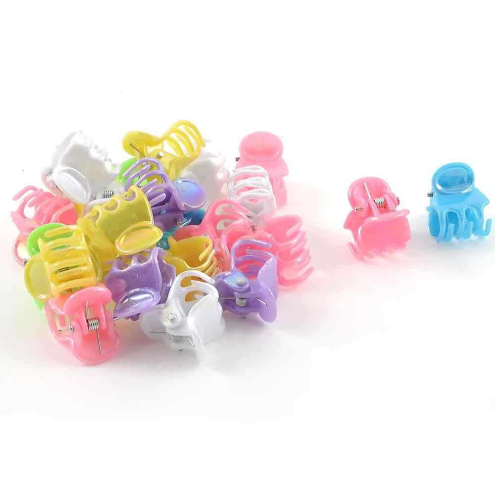 New 24 Pcs Fashion Assorted Color Plastic Mini Hair Clip Claw for Ladies