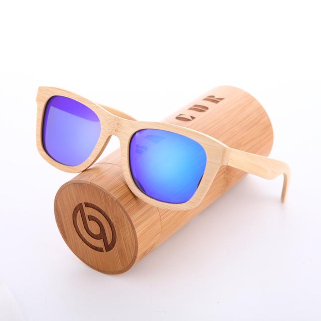 Stylish Lightweight Polarized Bamboo Men's Sunglasses