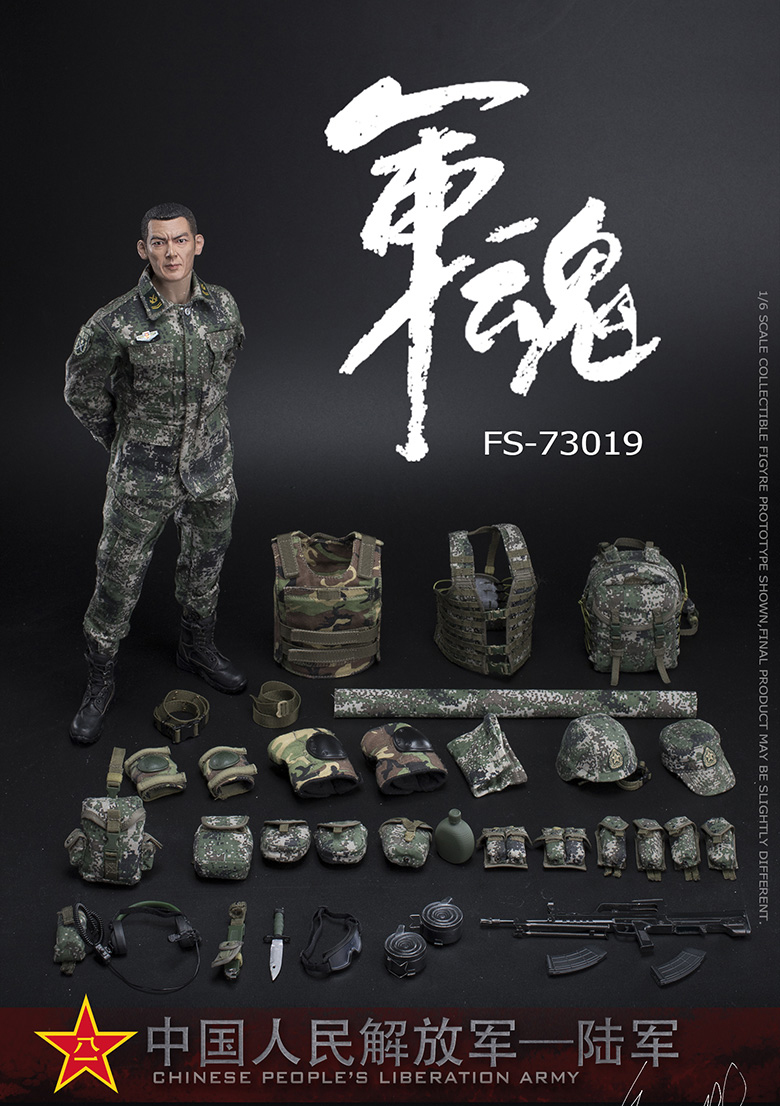 1/6 Scale Chiese People's Liberation Army Soul-Series Army Machine Gunner Military Solider Action Figure Full doll collection 4