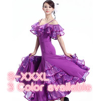 Modern dance ballroom dance dress pendant cuff dress Waltz Tango standard competition costumes
