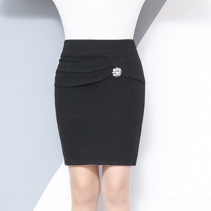 1011.86руб. 30% СКИДКА|Осенне зимняя женская мини юбка, облегающая, сексапильная, офисная, эластичная, с высокой талией, черного цвета, 2020|mini skirt|hip skirt|womens wool skirts - AliExpress