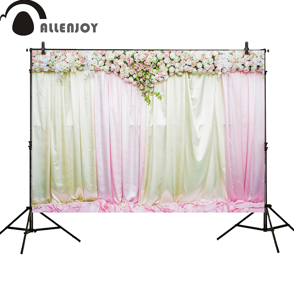 Allenjoy photography backdrop wedding decoration party Flower wall curtains Bridal shower Birthday banner newborn booth hot maxtv 1624 magnifying glasses 2 1x max tv binocular glasses new