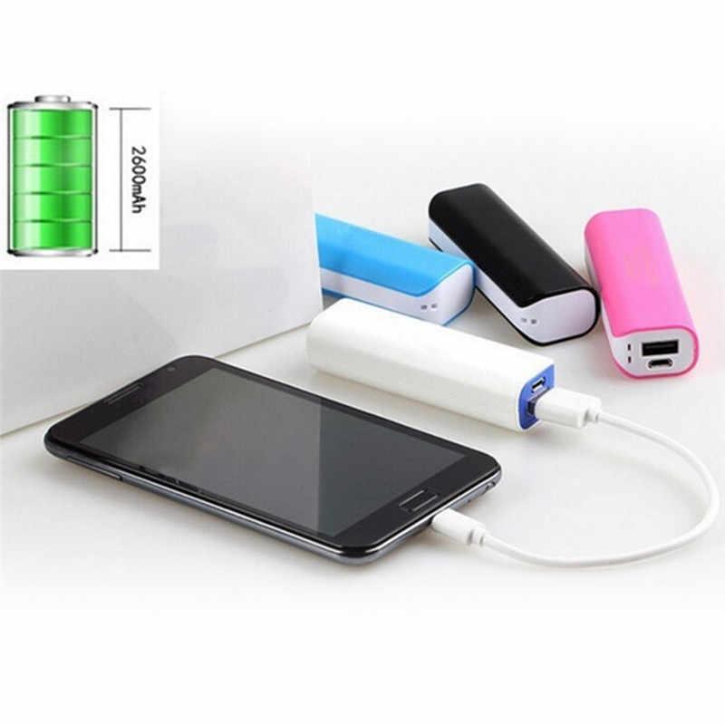 المحمولة أدى Pover قوة البنك (لا بطارية المحمول قوة البنك 18650 مربع الهاتف شاحن diy حالة تجدد Powerbank المزدوجة USB poverbank