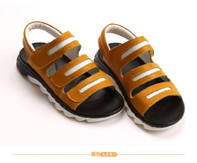 Campus baby boys sandals 2016 new fashion Korean big virgin leather shoes small children in summer