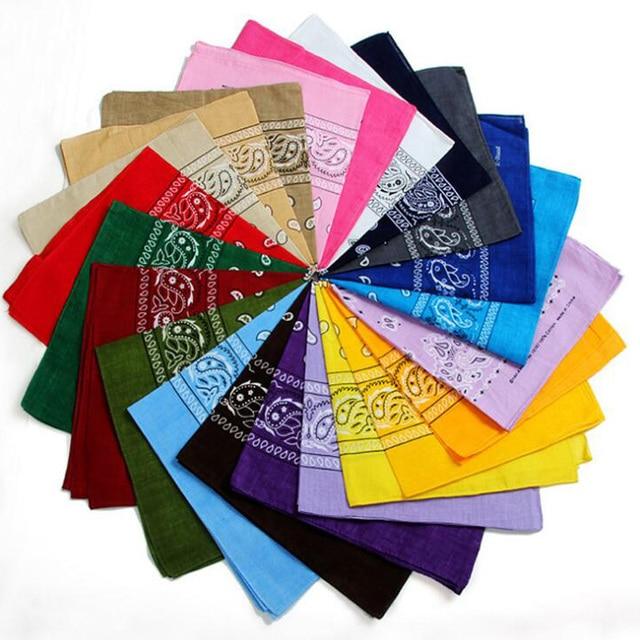 Novedad 2018 bufanda Bandana de algodón 100% 55 cm * 55 cm Bandanas con estampado de Paisley Rojo Negro para mujer /diadema para hombres/niños/niñas
