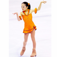 Customization Beautiful Rhythmic Gymnastics Leotard Handmade Dance Ice Skating Girl 7 Years Color Can Be Chosen