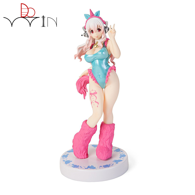 <font><b>Action</b></font> <font><b>Figure</b></font> Super Sonic the Animation SUPERSON 17cm PVC Sexy Girl Brinquedos <font><b>Sex</b></font> Robot <font><b>dolls</b></font> Toys Collection Model NO BOX NFI2 image