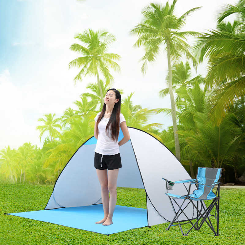Наружный кемпинговый тент Автоматический Мгновенный Всплывающий Пляжный Тент 2 человека анти УФ солнцезащитный тент палатки для рыбалки Пешие прогулки навес для пикника