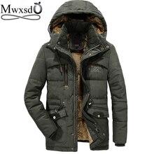 Mwxsd 40องศาCasual Mensเสื้อคลุมParkaแจ็คเก็ตผู้ชายที่อบอุ่นหนาขนสัตว์Parkasชายทหารกลางแจ้งเสื้อแจ็คเก็ต