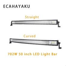ECAHAYAKU 3-Row 702W 50 inch Straight Curved LED Light Bar 4x4 SUV Vas Pickup Truck Car Roof Driving off road 12v 24v fog lights
