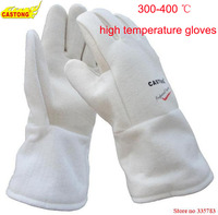 NFHH15 34 Protective Gloves 300 400 Degree Industrial Heating Gloves High Temperature Fire Gloves