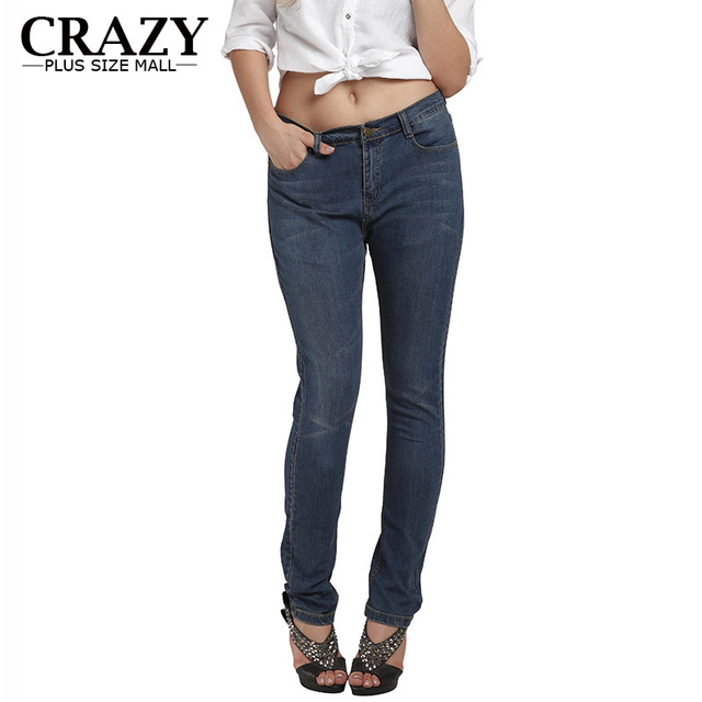 Us 32 99 2018 New Big And Tall Stores Clothes For Plus Size Women Stretch High Waisted Jeans Skinny Big 6xl 5xl 4xl Xxxl In Jeans From Women S
