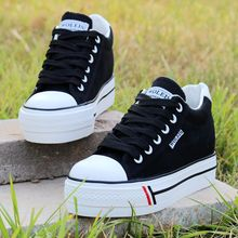 YeddaMavis Black Canvas Shoes Women Sneakers New Low Help Lace Up Womens Woman Trainers Zapatos De Mujer