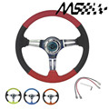 omp style Steering wheel ID=14inch 350mm Stormcar Deep Corn Drifting Steering Wheel/Super fiber leather Steering wheels 4/Colors