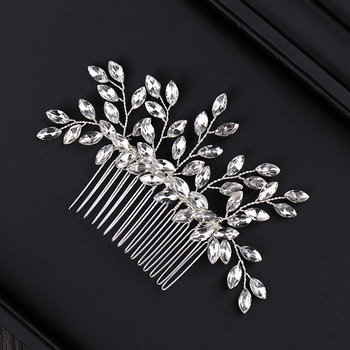 Classic Silver Crystal Hair Comb