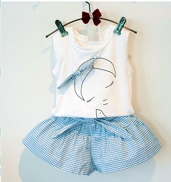 2016-baby-summer-girl-clothing-Sets-fashion-Cotton-Cartoon-Sleeveless-T-shirt-Tanktop-Vest-Skirts-Shorts-girls-clothes-suits-1