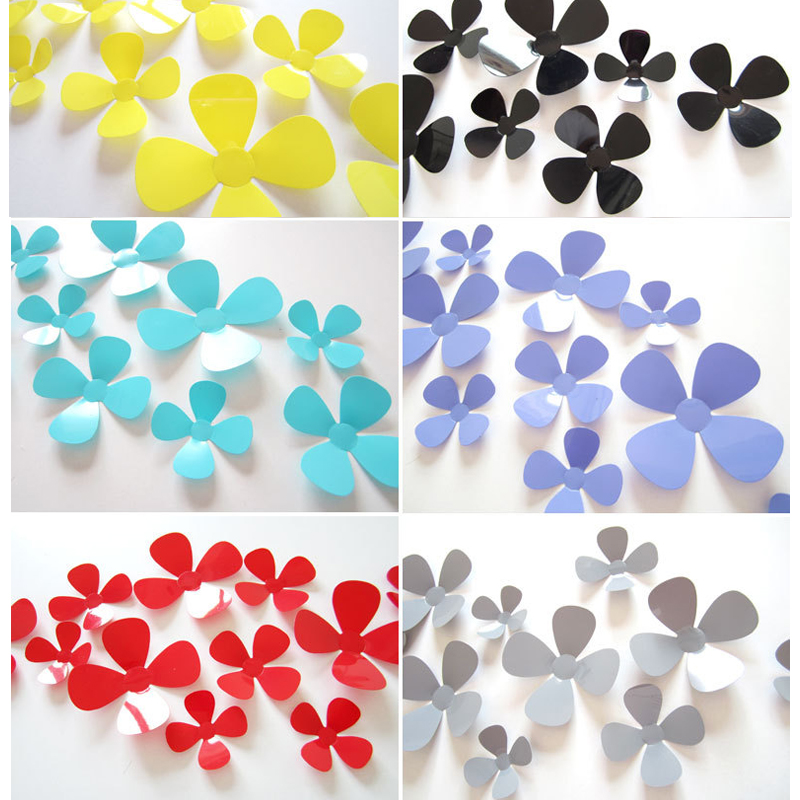 12 Pcs/Lot 3D PVC multicolor Small flowers Viscose DIY Wall Sticker Home Decor New Arrival Hot Sales Adesivo De Parede