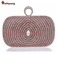 Neue Stil Luxus Kristall Frauen handtasche, Pfauenfeder Muster Voller Diamanten Party Handtasche Schultertasche Messenger Abendtasche