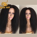 8A Grade Kinky Straight Full Lace Human Hair Wig Heavy Yaki Glueless Full Lace Wig For Black Women Kinky Straight Lace Front Wig