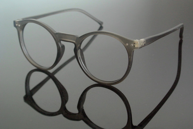 Cinza do vintage Oval Aro Completo Armações De Óculos Transparentes Óculos  sem lente Rx capaz 825901ec0d