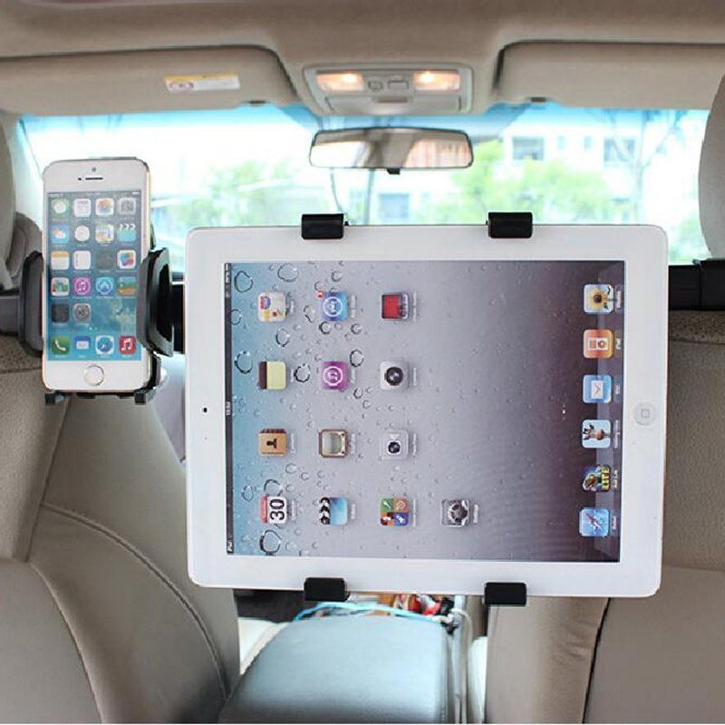 YUNAI Universal 2 In 1 Tablet Holder Car Back Seat Tablet Car Mount Stand Stents For Back Seat Headrest For iPad For Samsung lematec universal 360 degree rotation car seat headrest holder mount for ipad 4 mini 3 air 2 for android for samsung galaxy tab