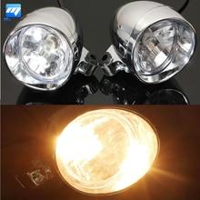 2 предмета 4 дюймов мотоцикл пуля фар пятно туман лампа для Harley/Honda/Suzuki/Yamaha