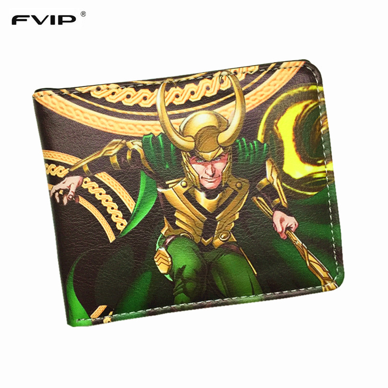 FVIP Cartoon Wallets Marvel Venom Loki Punisher Hulk Flash-Batmanthor Superman Star-Wars