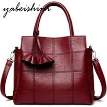 Flower tassel Tote Bags Women Leather Handbags 6 colors Ladies Large capacity Shoulder Bag Vintage lattice Messenger Bags
