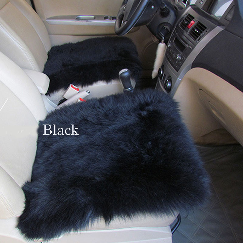 BLACK WOOL SEAT COVER