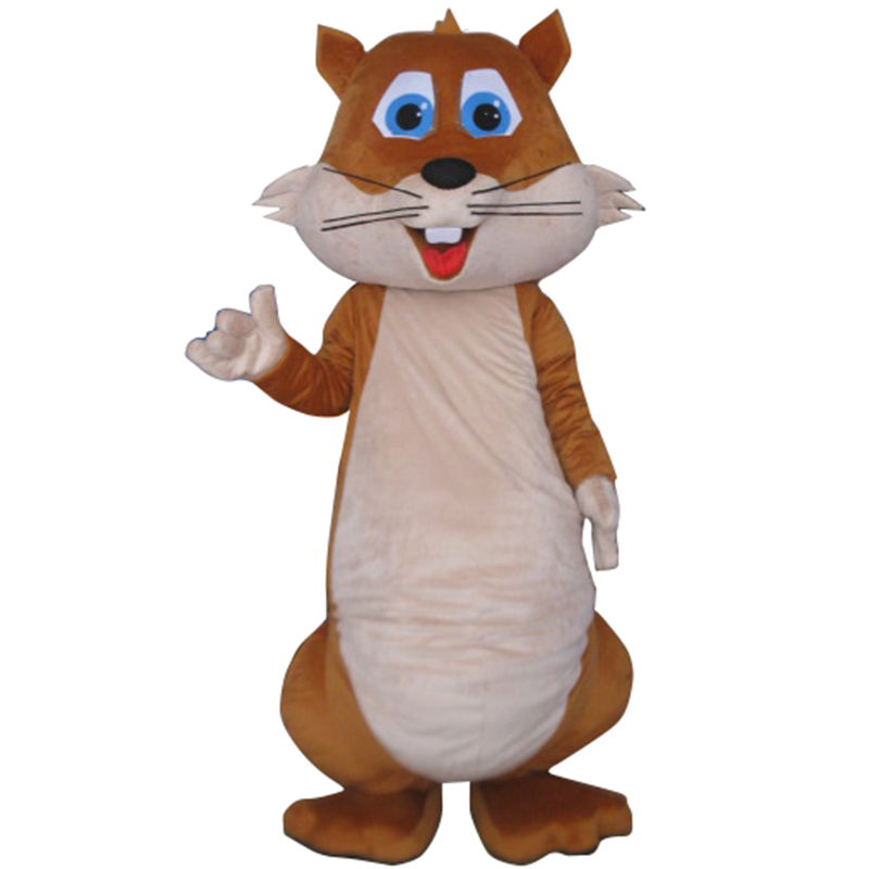 2016 High Quality Chubby Squirrel Mascot Costume Christmas Party Fancy Dress Outfit Suit