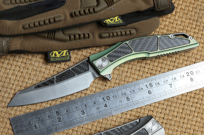 STEDEMON Zodiac CTS 204P blade Flipper KVT ball brearing folding knife titanium camping hunting outdoor survival knives EDC Tool|Knives| |  - title=