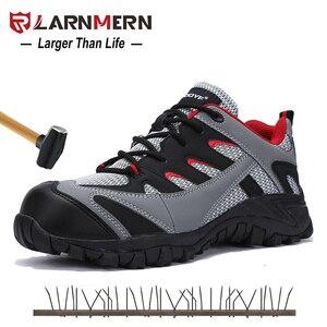 Image 1 - Scarpe di Sicurezza di Cuoio degli uomini Con Puntale In Acciaio stivali Da Lavoro Allaperto Peso Leggero Scarpe Da Lavoro