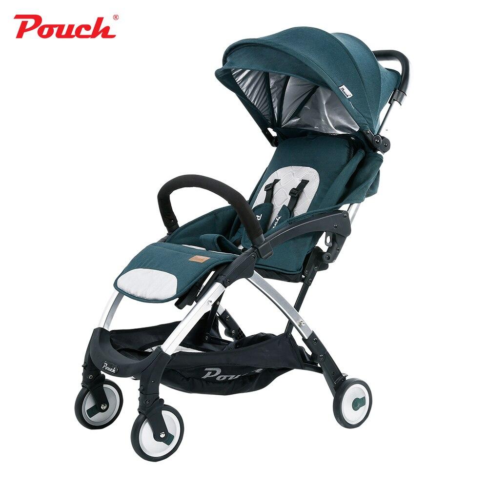 Luxe léger portable bébé poussette parapluie pliant infantile poussette landau pour les nouveau-nés marque pochette A18 voyage voiture
