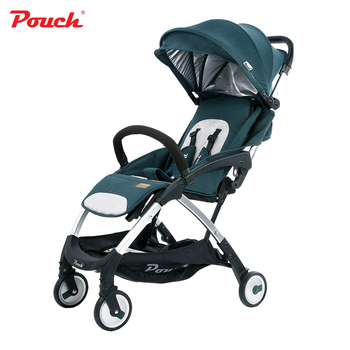Luxury light weight portable baby stroller umbrella folding infant poussette   prams for newborns  Brand Pouch A18 travel car super light luxury baby stroller high landscape folding baby car shockproof portable prams and pushchairs for newborns 4 2kg