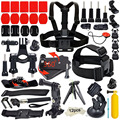 GoPro Accessories kit for xiaomi yi hero 4session/3+/3 sjcam/sj4000 action sport camera chest head strap+monopod+float hand grip