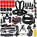 Gopro accesorios kit para xiaomi yi héroe 4 sesiones/3 +/3 sjcam/sj4000 acción deporte cámara pecho correa de la cabeza + monopod + flotador apretón de la mano