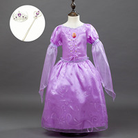 Fashion 3 4 Flare Sleeve Toddler Baby Girls Party Wear Kids Dress Halloween Carnival Princess Birthday