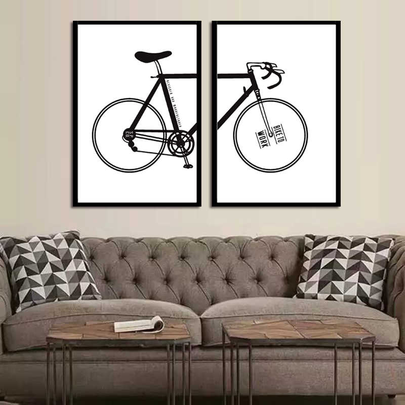 TOP Sale 2 Piecest/Set Abstract poster series Canvas Painting Sitting Room Decoration Print Canvas Pictures/No Framde