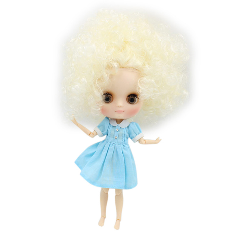 middie blyth doll yellow little curly with big hair QE300 joint body blyth middle doll with