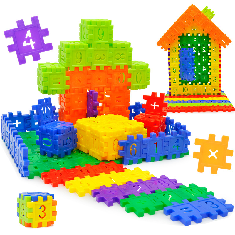 3D DIY building blocks toy assembled digital Jigsaw game for children early education to ...